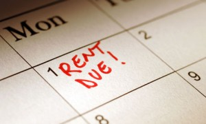 good relations with your landlord Calendar marked to show rent due