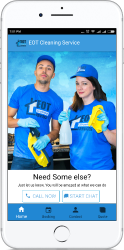 End Of Tenancy Cleaning Services Mobile App