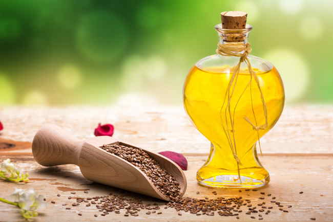 Linseed oil bottle used to make DIY leather car seat cleaning product